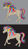 Beauty rainbow horse vector Royalty Free Stock Photography