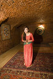 Beauty real asian girl greeting, vietnameese spa Stock Photography