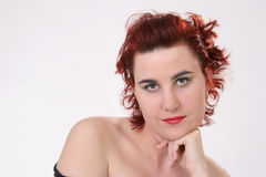 Beauty with red hair Stock Photo