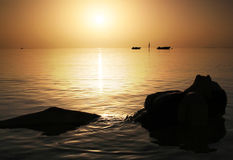 Beauty in Red Sea at sunrise Stock Image