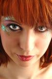 Beauty redhead woman portrait. Closeup Royalty Free Stock Photography
