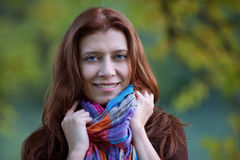 Beauty redheaded woman Stock Image