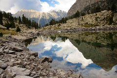 Beauty reflection - Aiguestortes National Park Stock Images