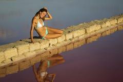 Beauty reflection Stock Image