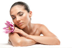 Beauty Relax At Spa Stock Image