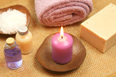 Beauty relax with candle Royalty Free Stock Photo