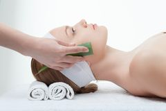 Beauty and relaxation concept, attractive woman in Royalty Free Stock Photos
