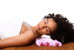 Beauty relaxation at spa Stock Photo
