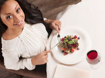 Beauty at the restaurant. Royalty Free Stock Images