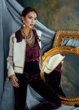 Beauty rich brunette woman in luxury interior near Stock Images