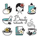 Beauty rituals icons Stock Photo