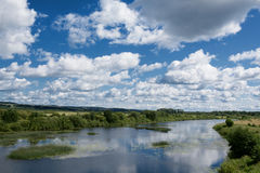 Beauty river under blue sky Stock Photography