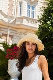 Beauty in the Riviera. Beautiful young multicultural woman enjoying the French Riviera Stock Photography