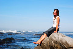 Beauty on the rock Stock Photography