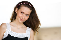 Beauty romance girl portrait. Outdoor Stock Photos