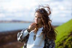Beauty Romantic Girl Outdoors. Royalty Free Stock Photos