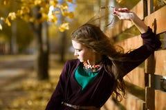 Beauty Romantic Girl Outdoors Royalty Free Stock Photos