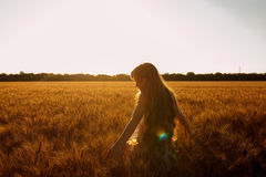 Beauty Romantic Girl Outdoors Royalty Free Stock Image