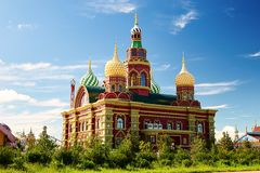 The beauty russian architecture in NZH Manzhouli in Inner Mongolia, China. The photo was taken in NZH Manzhouli in Inner Mongolia, China stock photo