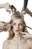 In beauty salon Royalty Free Stock Photography