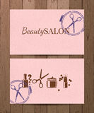 Beauty salon cards Stock Photos