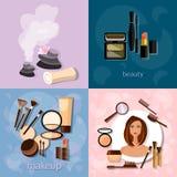 Beauty salon concept makeup beautiful woman face Stock Photography
