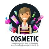 Beauty salon, cosmetic vector logo design template Royalty Free Stock Photography