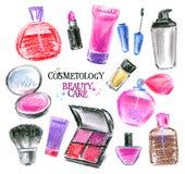 Beauty salon, cosmetics on a white background Royalty Free Stock Image