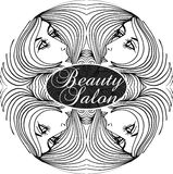 Beauty Salon Cover with Abstract beautiful woman face  Stock Images