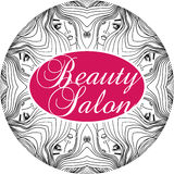 Beauty Salon Cover with Abstract beautiful woman face  Royalty Free Stock Photography