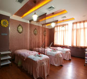 Beauty salon decoration. China luxurious decoration of the beauty salon Royalty Free Stock Photo