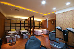 Beauty salon decoration. China luxurious decoration of the beauty salon Royalty Free Stock Images