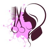 Beauty salon design. Beauty salon and hairdresser for women symbol design vector illustration