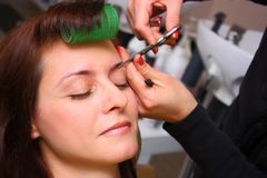 Beauty salon - eyebrows care Stock Photo