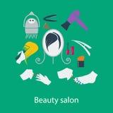 Beauty salon flat design Royalty Free Stock Photography