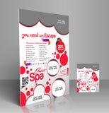 Beauty Salon Flyer Stock Photos