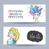 Beauty salon flyer vector Royalty Free Stock Image