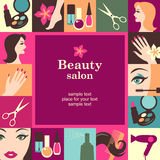 Beauty salon frame Royalty Free Stock Image