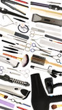 Beauty Salon and Hairdressers Equipment Isolated stock photography