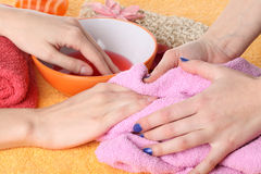 Beauty salon for hands Stock Image