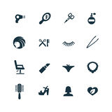 Beauty salon icons set Stock Image