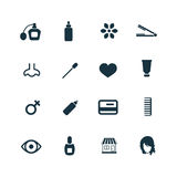 Beauty salon icons set Stock Images