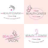 Beauty salon  labels Royalty Free Stock Photography