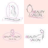 Beauty salon  labels Stock Photos