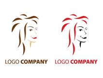 Beauty salon logo Royalty Free Stock Photography