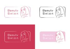 Beauty Salon Logo Design Stock Photos