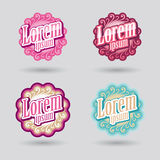 Beauty salon logo. Ornamental design vector for beauty and cosmetic services Royalty Free Stock Photos