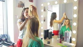 In the beauty salon stock footage