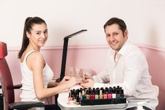 Beauty salon Stock Images