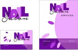 Beauty salon modern Logo, Business Card, Flyer Royalty Free Stock Images